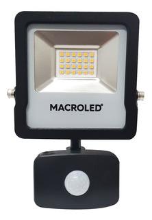 Reflector Led 20w Sensor Movimiento Luz Fria 6500k