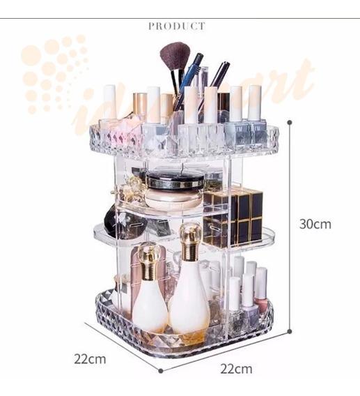 Caixa Acrílico Organizador Maquiagem/joias/esmalte-giratorio