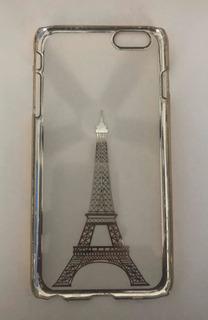 Funda Silicona Torre Eiffel Oro P/ iPhone 6 Plus/6s Plus
