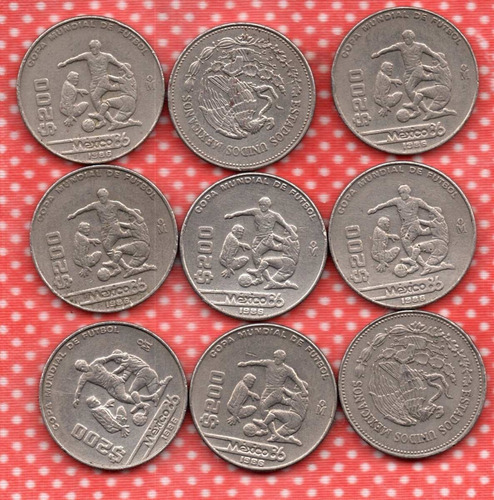 Imagen 1 de 1 de Moneda Docientos Pesos $200 Conmemorativa  Fub Boll 1986 C2