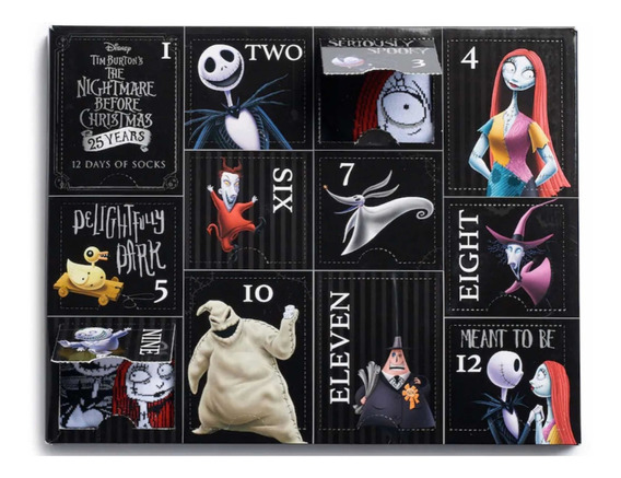 The Nightmare Before Christmas 12 Pares De Calcetines