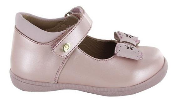 Zapato Escolar Para Niña Velcro Coqueta Mod Naty Rosa T18