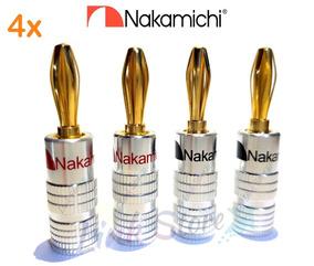 4 Plug Banana Nakamichi Receivers Caixa Acústica - Nova Liga