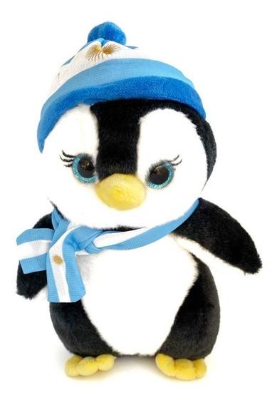 Pinguino Muñeco Peluche Bufanda Gorrito Bandera Argentina