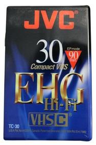 5 Fitas Jvc - Compact Vhs (lacradas)