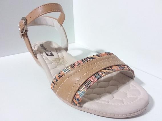 Sandalia Comfort Flex Plus Caram Ref :1674406