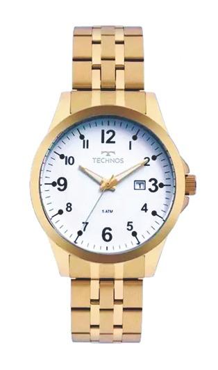 Relógio Dourado Technos Original 2115mqd/4b