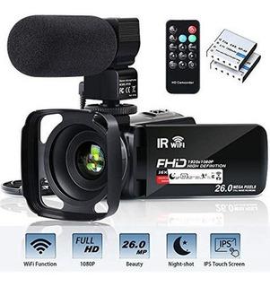 Videocámara Wifi Fhd 1080p 30fps 26mp Youtube Cámara Vloggin