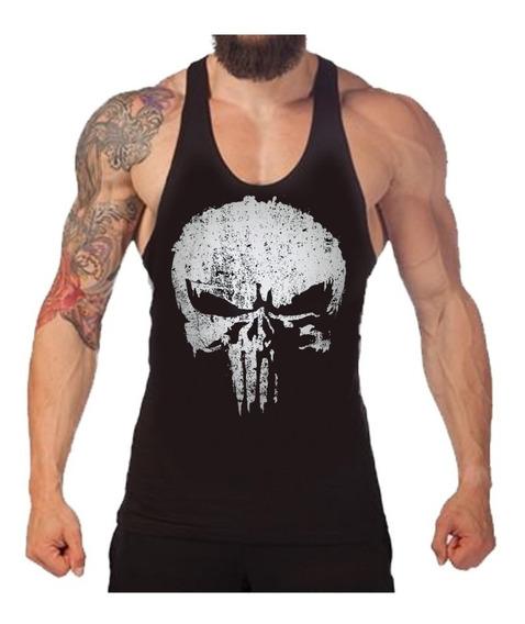 Musculosas Punisher Unicas Olimpicas De Algodon Fitness