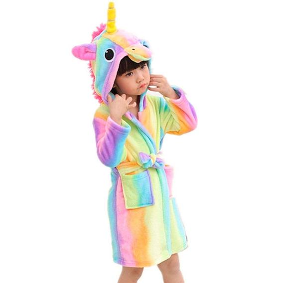Bata Pijama De Baño En Forma De Unicornio Arcoiris H8119