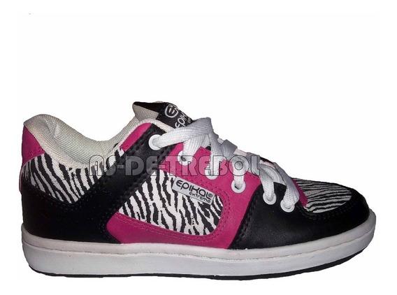 Zapatillas Glock Cebra Animal Print Cosidas