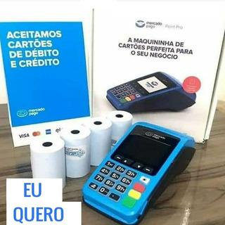 Maquina De Cartão Sem Aluguel Point Chip Wifi Imprime Papel