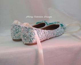 Zapatos, Valerinas, Para Novia Primera Comunión Cristal