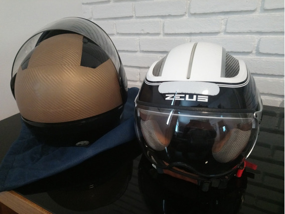 Capacete Zeus Helmets + Capacete Nau Ropocop Só Hoje!250cada