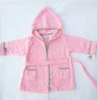 Bata De Baño Rosa Para Bebe Calvin Klein