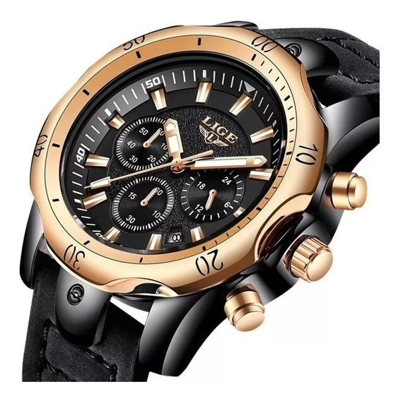 Relógio Masculino Lige Luxo Casual Esportivo Lançamento Top