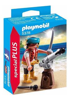 Playmobil - Pirata Con Cañón - 5378 - Original