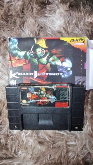 Fita Killer Instinct Original Snes Cartucho Nintendo C/caixa