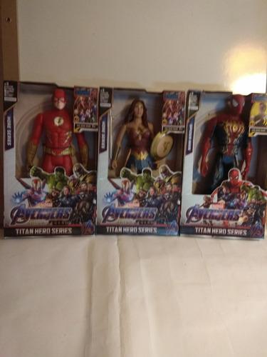 Superheroes Grandes Spider Negro,linterna Verde,flash,etc.