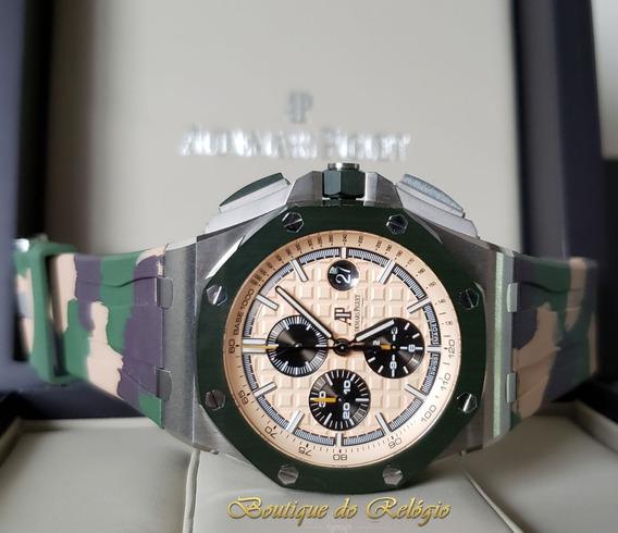 Relógio Modelo Chronograph Steel New Camouflage - 44mm