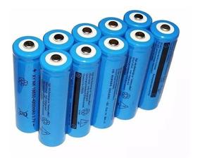 Kit 10 Baterias 18650 9800mah 3.7v Para Lanterna Tática Led