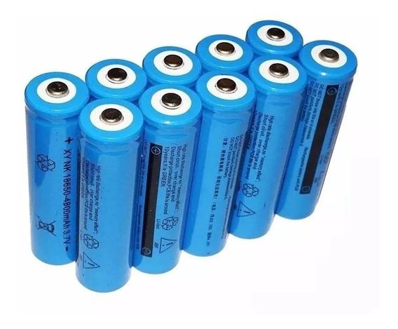 Kit 10 Baterias Para Lanterna 18650 Tática Led 9800mah