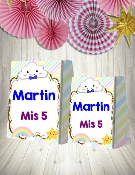 Kit Imprimible Lluvia De Amor Varon Nubes Y Arco Iris