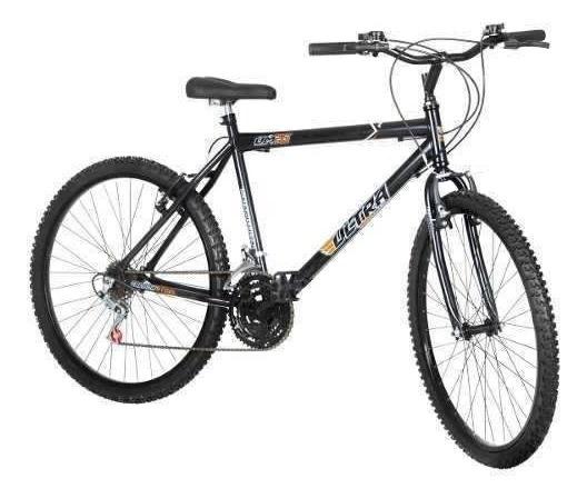 Bicicleta Bike Ultra Masculino Aro 26 Preta Freio V Brake
