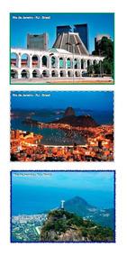 Set Com 9 Cartões Postais Rio De Janeiro
