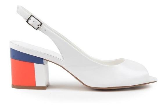 Zapatos Zuecos De Mujer De Cuero Trinidad Blanco - Ferraro