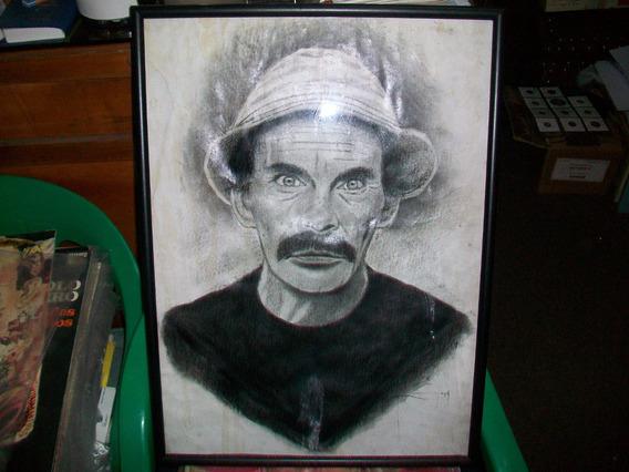 Pintura Sobre Cartón De Don Ramon, Enmarcado Bajo Vidrio