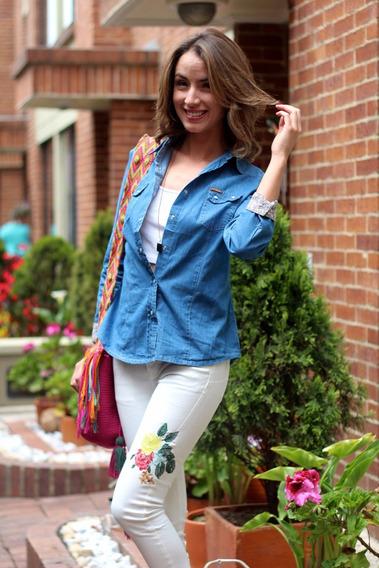 Camisa Jean Mujer + Envio Gratis + Garantia 60 Dias
