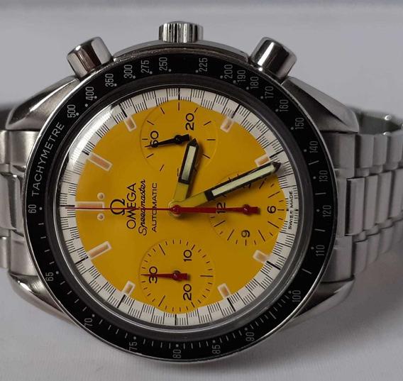 Omega Speedmaster Schumacher Todo Aço - Amarelo - 12x Sj