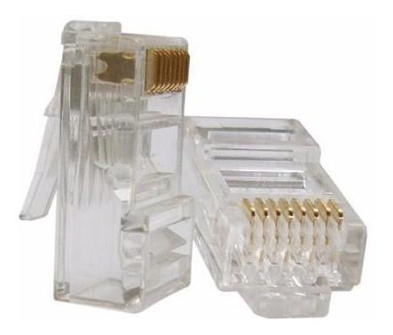 Conector Rj45 Furukawa Banhado Ouro Computador Pacote 50 Pç