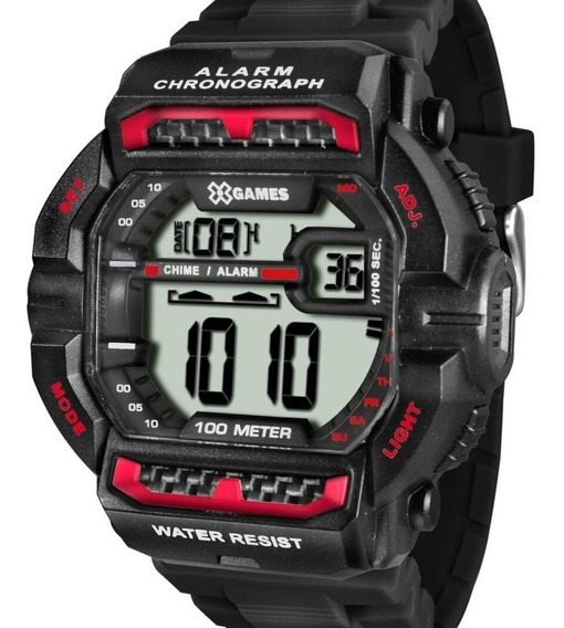 Relógio X-games Masculino Digital Quadrado Barato Original