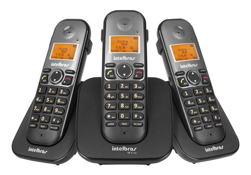 Telefone sem fio Intelbras TS 5123 preto