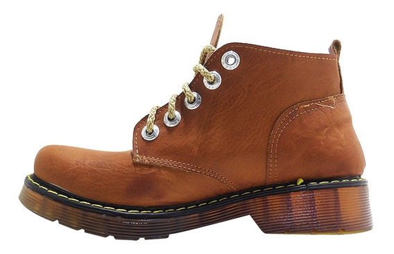 Botineta Borcego De Cuero Acordonado-calzados Union- 520