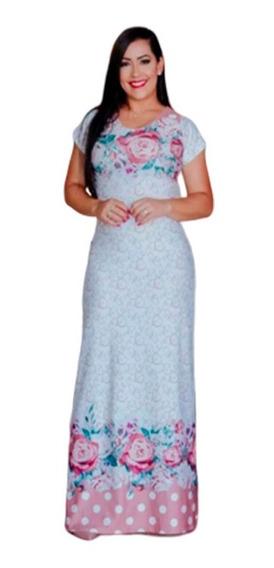 Vestidos Longos Estampado Moda Evangélica Lançamento