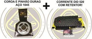 Kit Relação Aço 1045 Com Retentor Dafra Next 250 Durag + Did Pinhão 13 002559 / 3961durag Com Nota