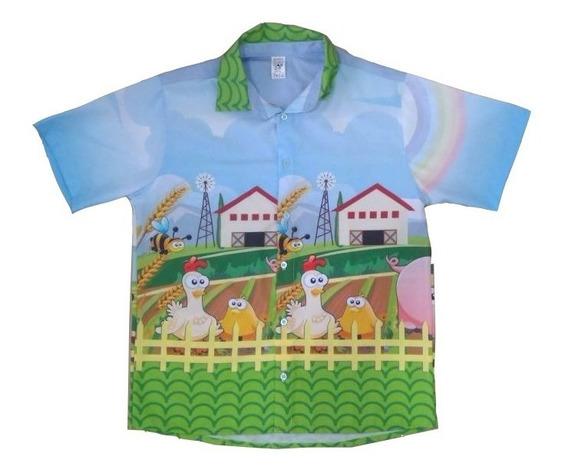 Camisa Fazendinha Fazenda Blusa Tal Pai Tal Filho Adulto