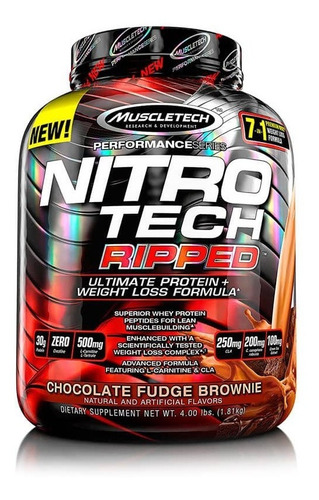 Proteina Muscletech Nitrotech Ripped 4 Libras (1.81kg)