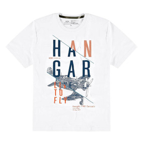 Camiseta Hangar 33 Manga Curta Malha Estampada Masculina