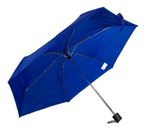 Paraguas De Bolsillo Portátil Funda Azul Sombrilla Plegable