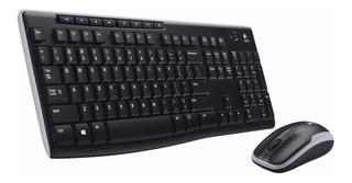 Combo Wireless Logitech Mk 270 Teclado+mouse Multimedia Pc M