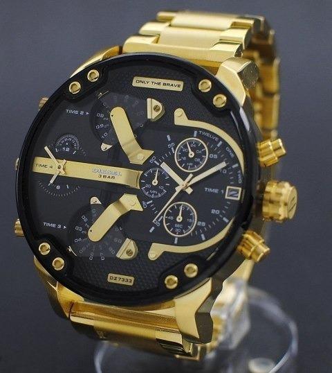 Relógio Diesel Dz7333 3bar Dourado, A Prova D