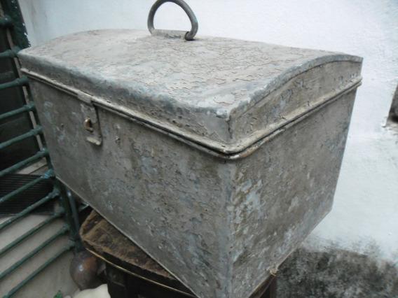 Caja Baulera Cofre De Metal Baul De Auto Antiguo