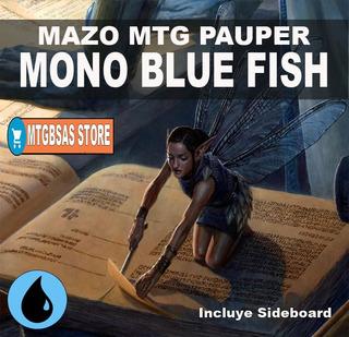 Mazo Magic De Pauper: Mono Blue Fish Con/side! Mtg Bsas