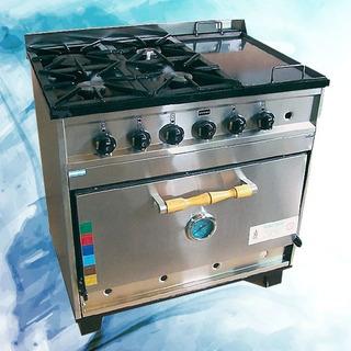 Cocina Tecnocalor Industrial Ab4 4 H + Plancha Horno Pizzero