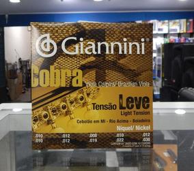 Giannini 5 Jogos Corda Viola Cobra Tensão Leve Niquel Gesvnl