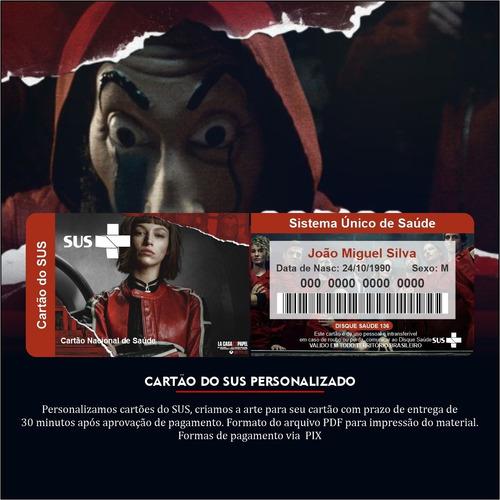 Imagem 1 de 5 de Cartão Do Sus Personalizado